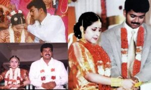 on vijay's wedding anniversary, old pics of him and his wife being fecilitated at a movie location went viral