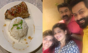 prithviraj is all praise for mohanlal and his wife suchitra mohanlal's cooking skills