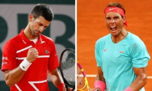 nadal vs djokovic in french open final, nadal a win away from equalling federer's all time record